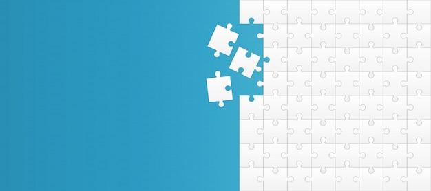 ジグソーパズルのピース、モザイク要素の背景。