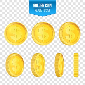Золотая монета доллар.