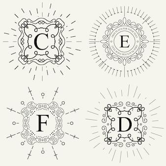 ベクトルビンテージモノグラムのロゴ。