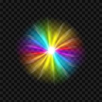 虹グレアスペクトルの背景。