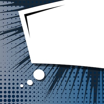 コミックポップアートスタイルの空白の背景。