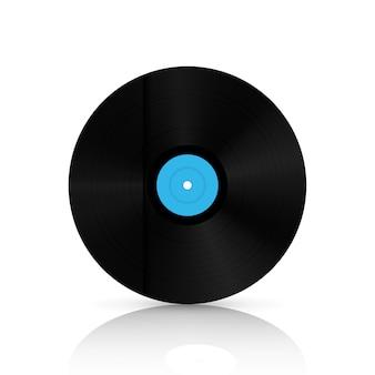 紙箱の中のビニールレコードディスク。