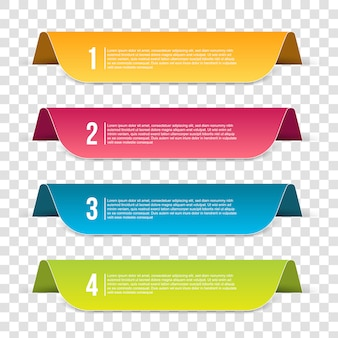 Инфографика шаблон шага баннер