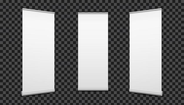 Сверните баннеры бумаги холст текстуры фона.