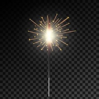 クリスマスベンガルの火の輝き光火花、花火