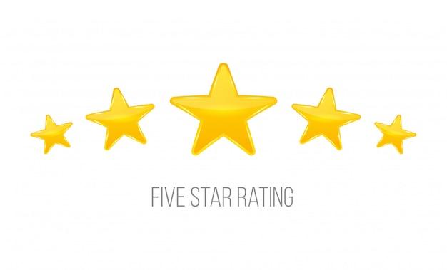 星の評価。ランキングのような投票。