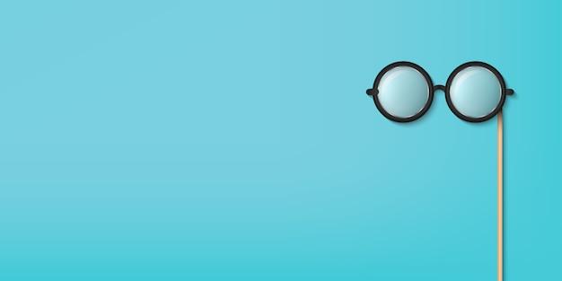 眼鏡スティック、眼鏡のフォトブースの小道具。