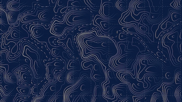 地形図。山のハイキングトレイルグリッド。
