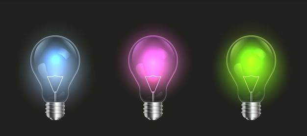 Лампочки включены, светодиодные лампочки.