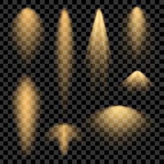 グローライト効果の星は輝きで破裂します。