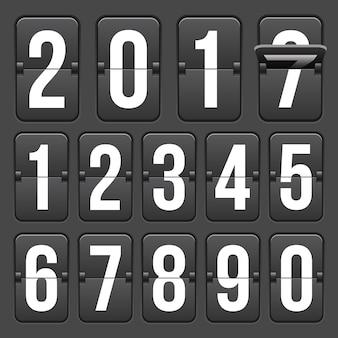 数字付きのカウントダウンタイマー