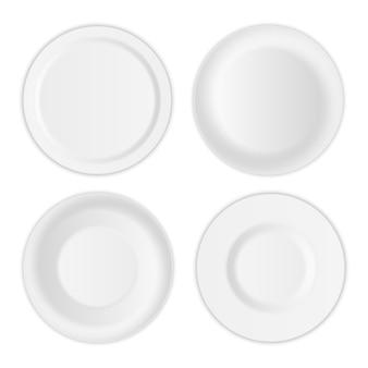 丸皿、磁器のスープ用具、ボウル。