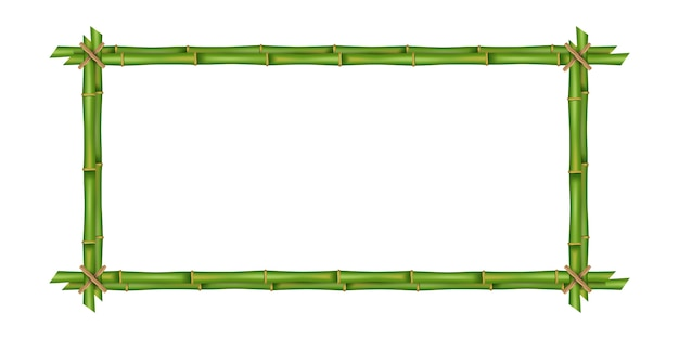 竹の茎フレーム、空白。