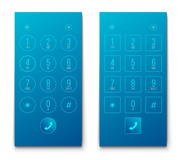 電話ダイヤル、キーパッド、スマートフォン、スマートフォン。