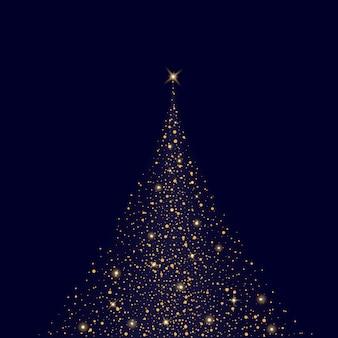 輝きクリスマス効果と輝き光効果星バースト