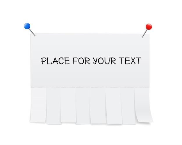 白紙の広告、切り取り紙