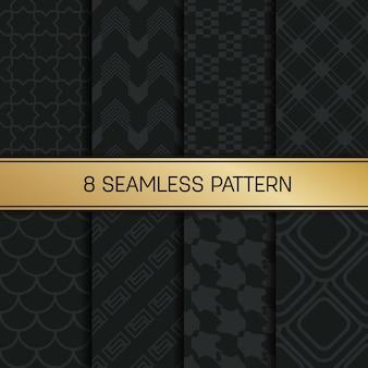Монохромный геометрический рисунок фона набор.