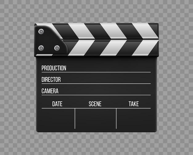 映画のカチンコ、カチンコ、映画のスレートボード。