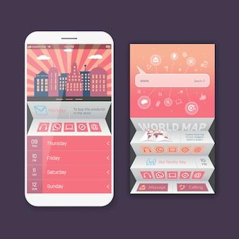 Форма мобильного веб-интерфейса пользователя