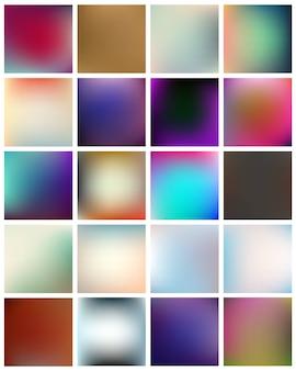 色とりどりの背景をぼかした写真セット。