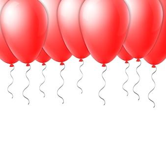 Полет воздушного шара с лентой