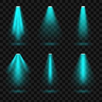 Яркие световые прожекторы, подсветка, подсветка.