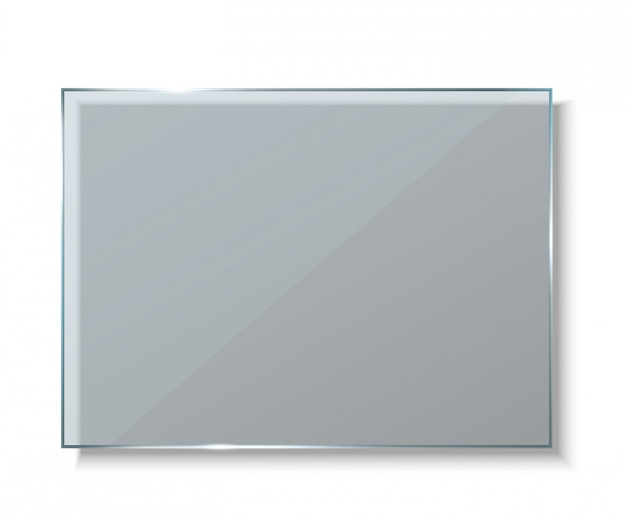 ガラス板、空のバナーの背景。