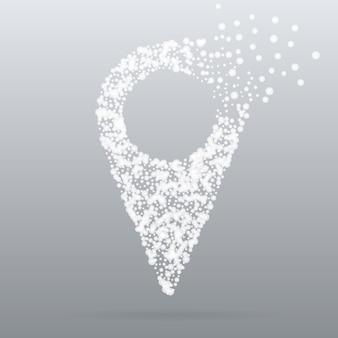 粒子スタイルの創造的な概念のポインター