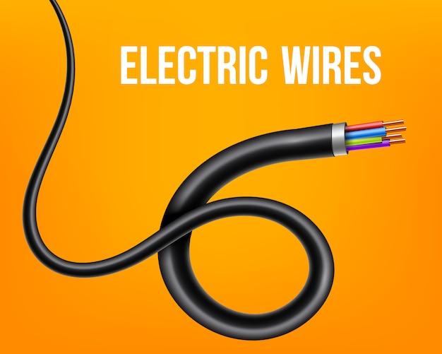 Гибкие электрические медные провода, изогнутый кабель питания