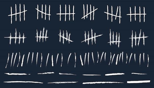 待機中の集計番号マークをカウントします。