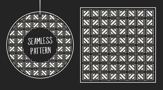 Монохромный геометрический узор бесшовные