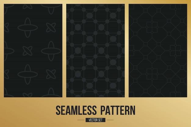 モノクロの幾何学的なシームレスパターン