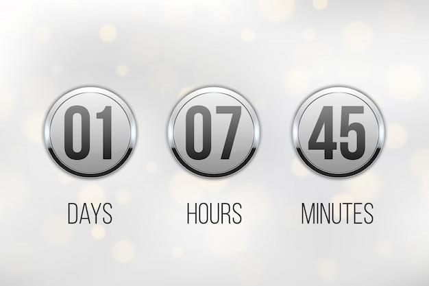 デジタル時計タイマー、カウントダウン、近日公開予定。