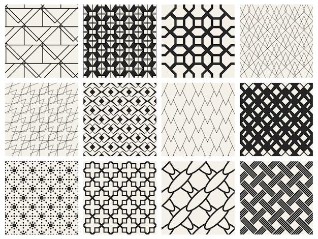 Монохромный геометрический рисунок.