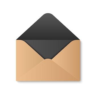 紙の封筒、メッセージ、メール、メールを開きます。
