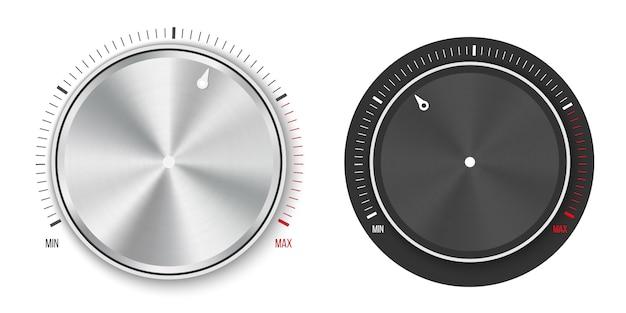 Ручка регулятора уровня технологической настройки, металлическая кнопка.