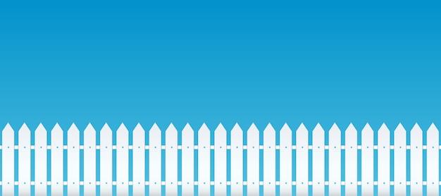 農村の木製フェンス、ピケット。庭の壁。