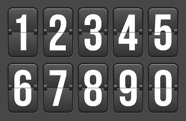 カウントダウンタイマー、数字、クロックカウンター。