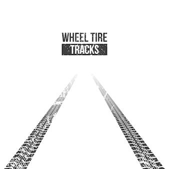 ホイールタイヤトラック。巻線トレース。