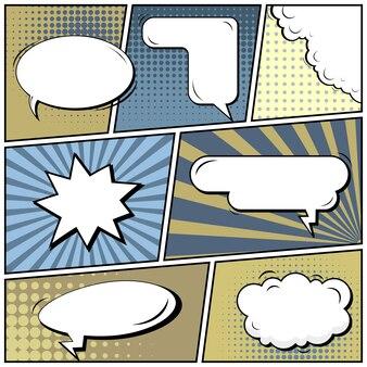 Комическая страница в стиле поп арт