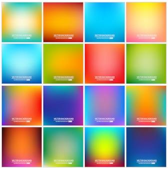 抽象的な色とりどりのグラデーション背景セット。