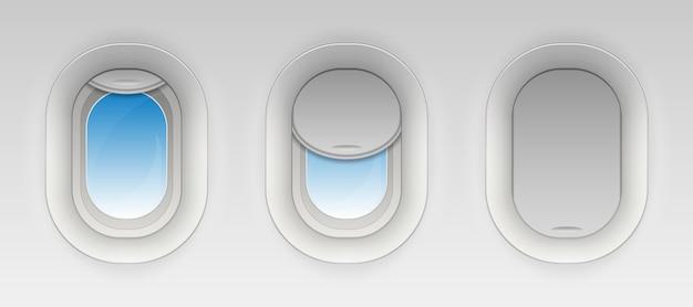 飛行機の窓を戦う