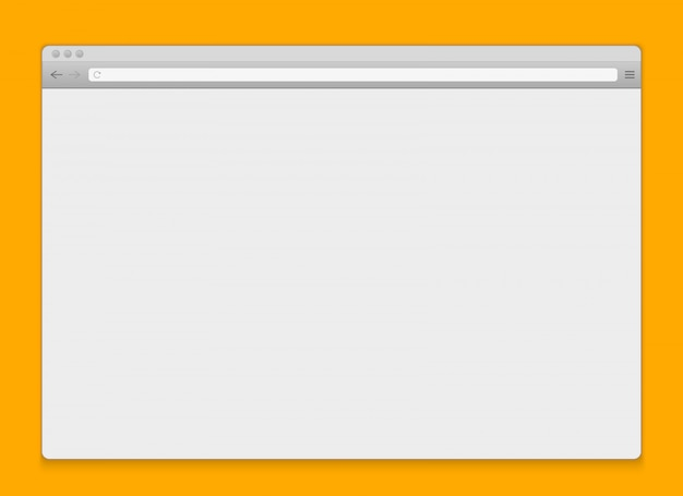 インターネットウィンドウブラウザの空白の背景を開きます。