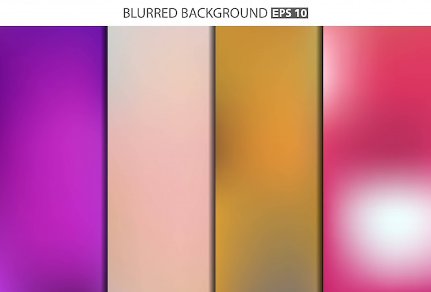 Набор разноцветных размытый фон.