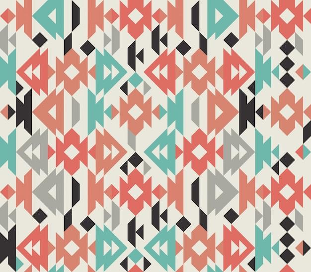 古代メキシコのカラフルな装飾布の繊維の背景