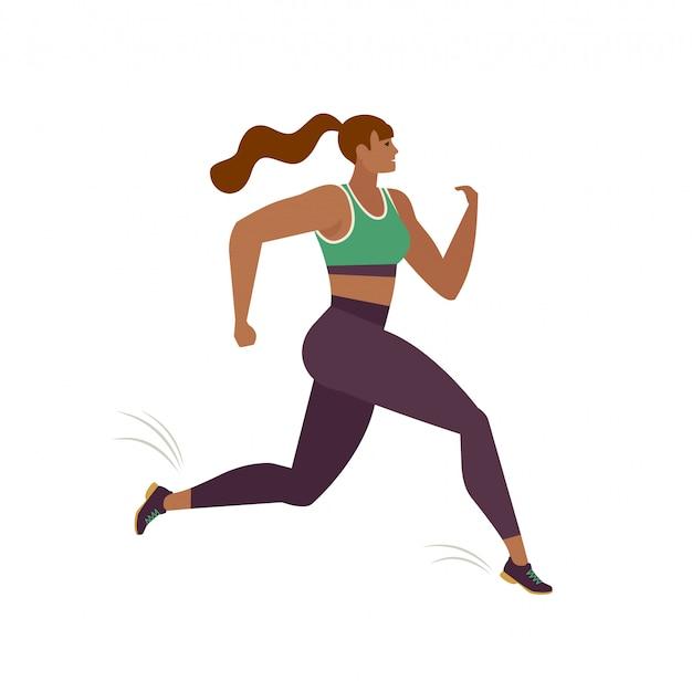 ジョギングする人。