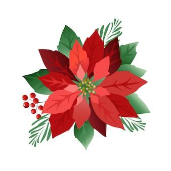 クリスマスポインセチアの花
