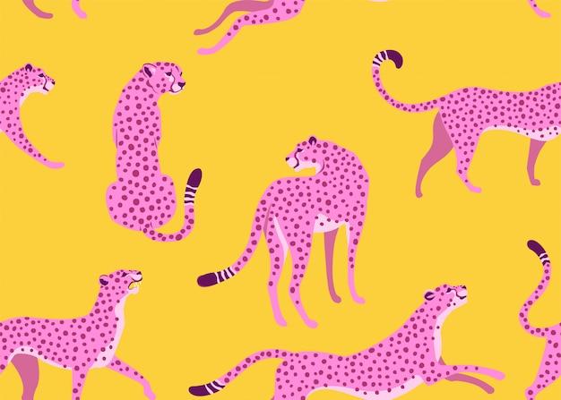 Леопард бесшовные модели.