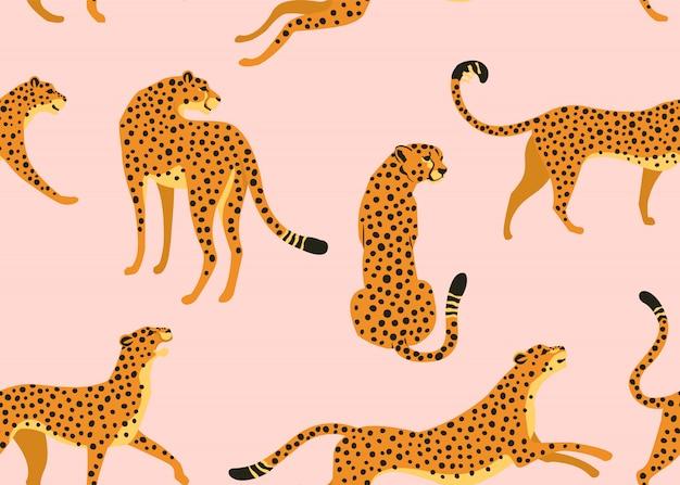 ヒョウのシームレスなパターン。