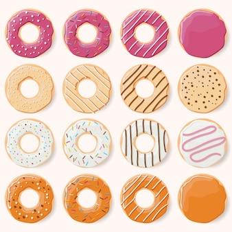 色とりどりの摂餌デザイン
